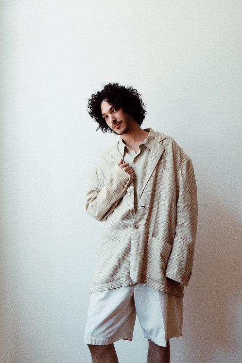 linen oversized blazer