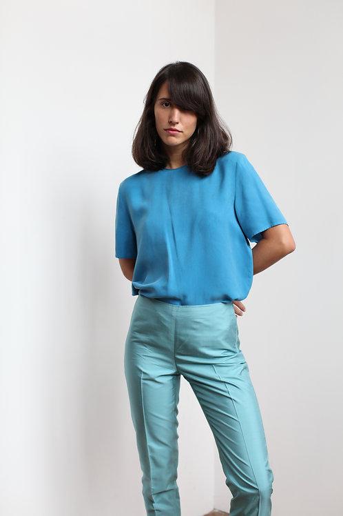 Silk Blue Top
