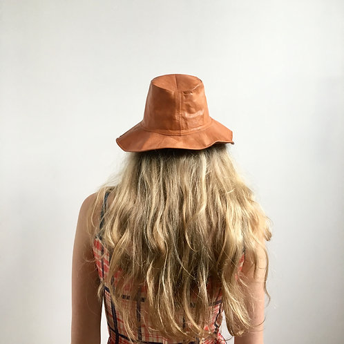 70s Leather Hat