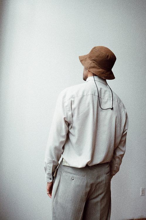 YSL Soft Grey Button-Front Shirt