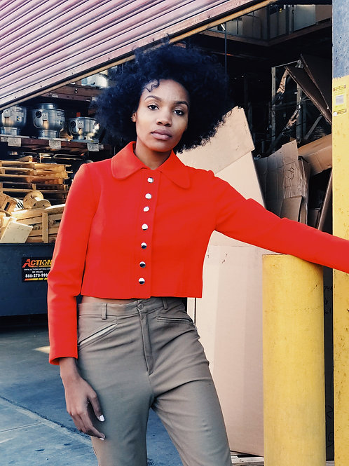 70s Red Cropped Jacket