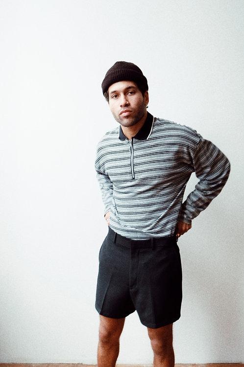 Quarter-Zip Cotton Long-Sleeve