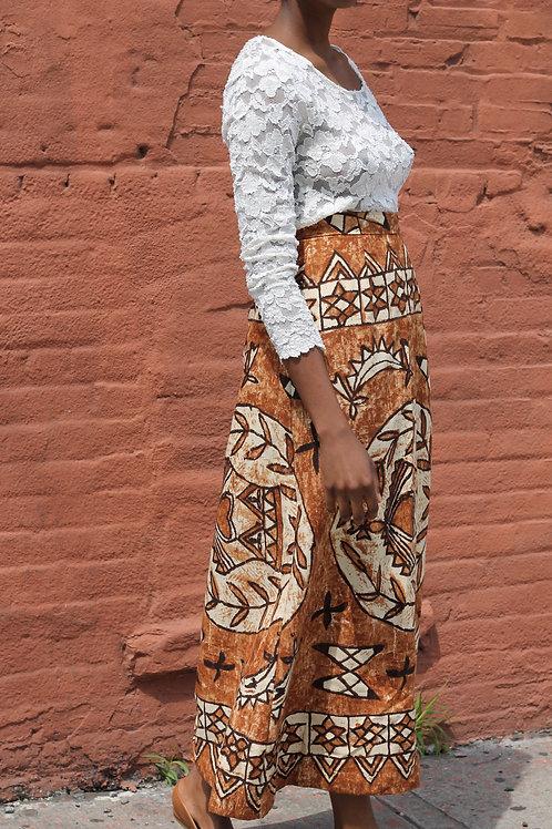 High-waisted Print Skirt