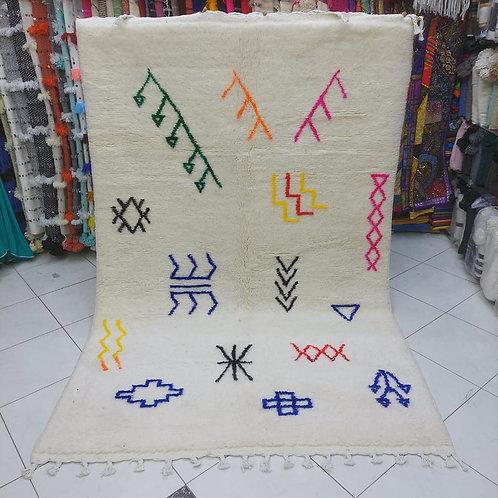 "Colorful Berber Shag Carpet 5""x8"""