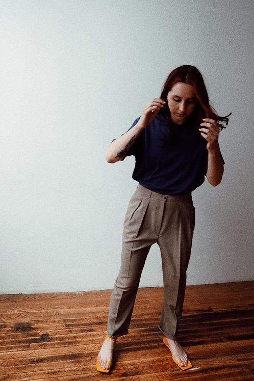 Summer Wool High-Waist Trouser