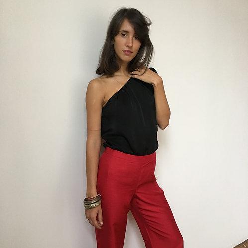 Red Silk Pants