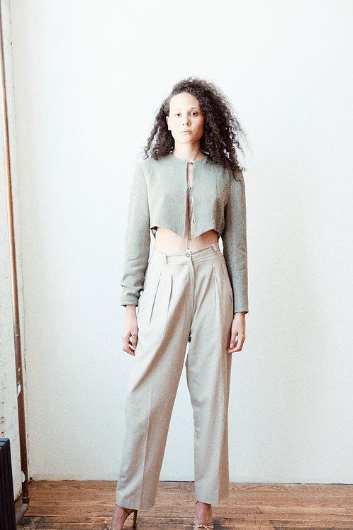 DKNY High Waisted Silk Trouser