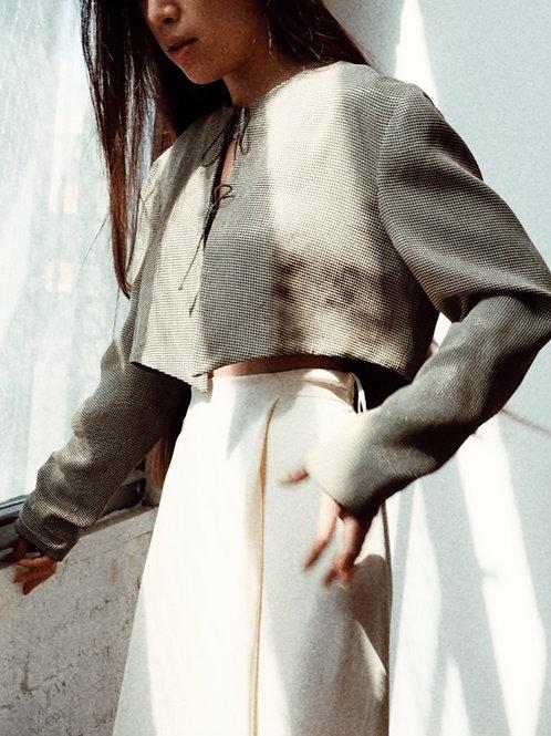Cropped  Silk Jacket