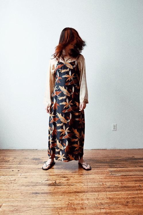 Silk Print Maxi Dress