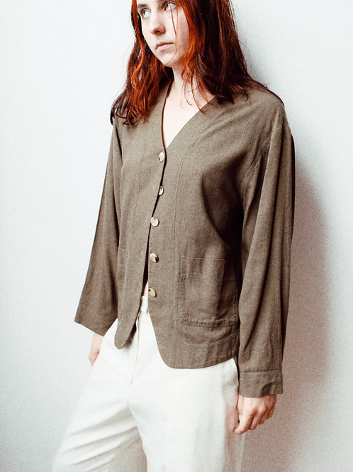 90s The Limited Silk Cardigan