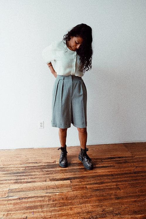 Jones New York Wool High-Waist Shorts