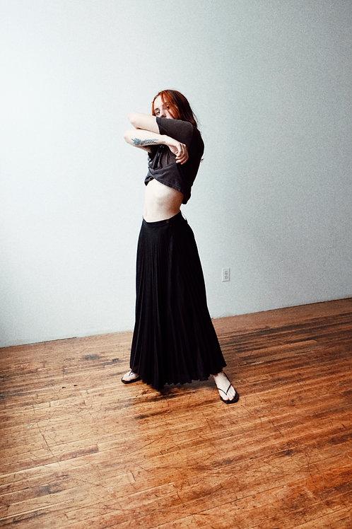 Pleated Maxi-Skirt