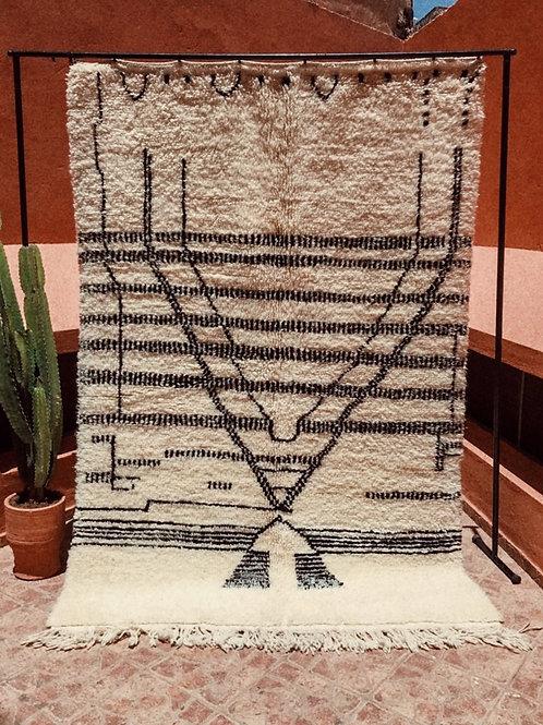 Moroccan Beni Ourain - Pyramid Carpet