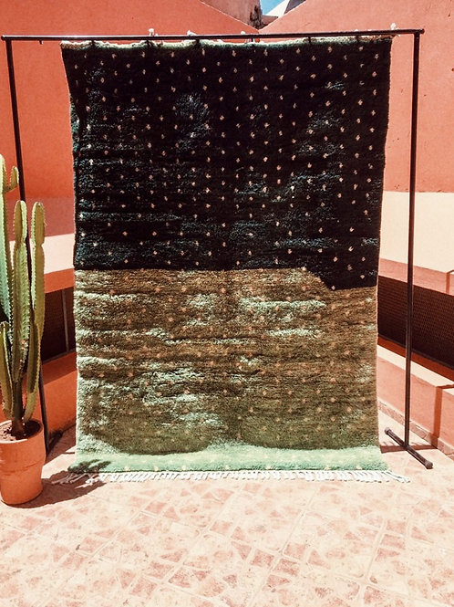 Moroccan Beni Ourain - Green Grass Carpet