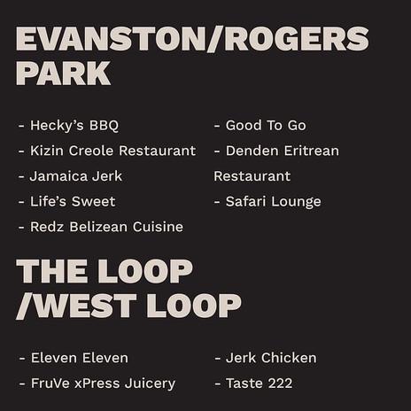 Evanston/ Rogers Park - The Loop/ West Loop