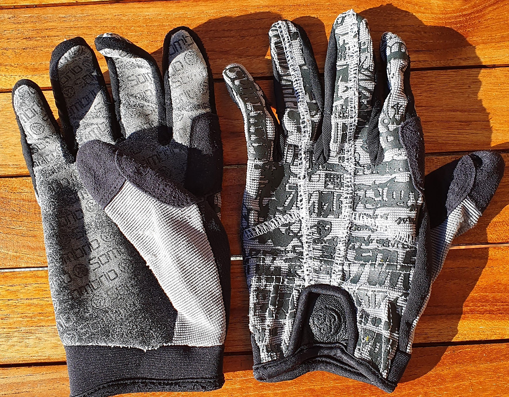 The best glove-hack ever use long-fingered mountain biking gloves for ski touring.