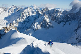 Steep and Deep skiing in Chamonix, France