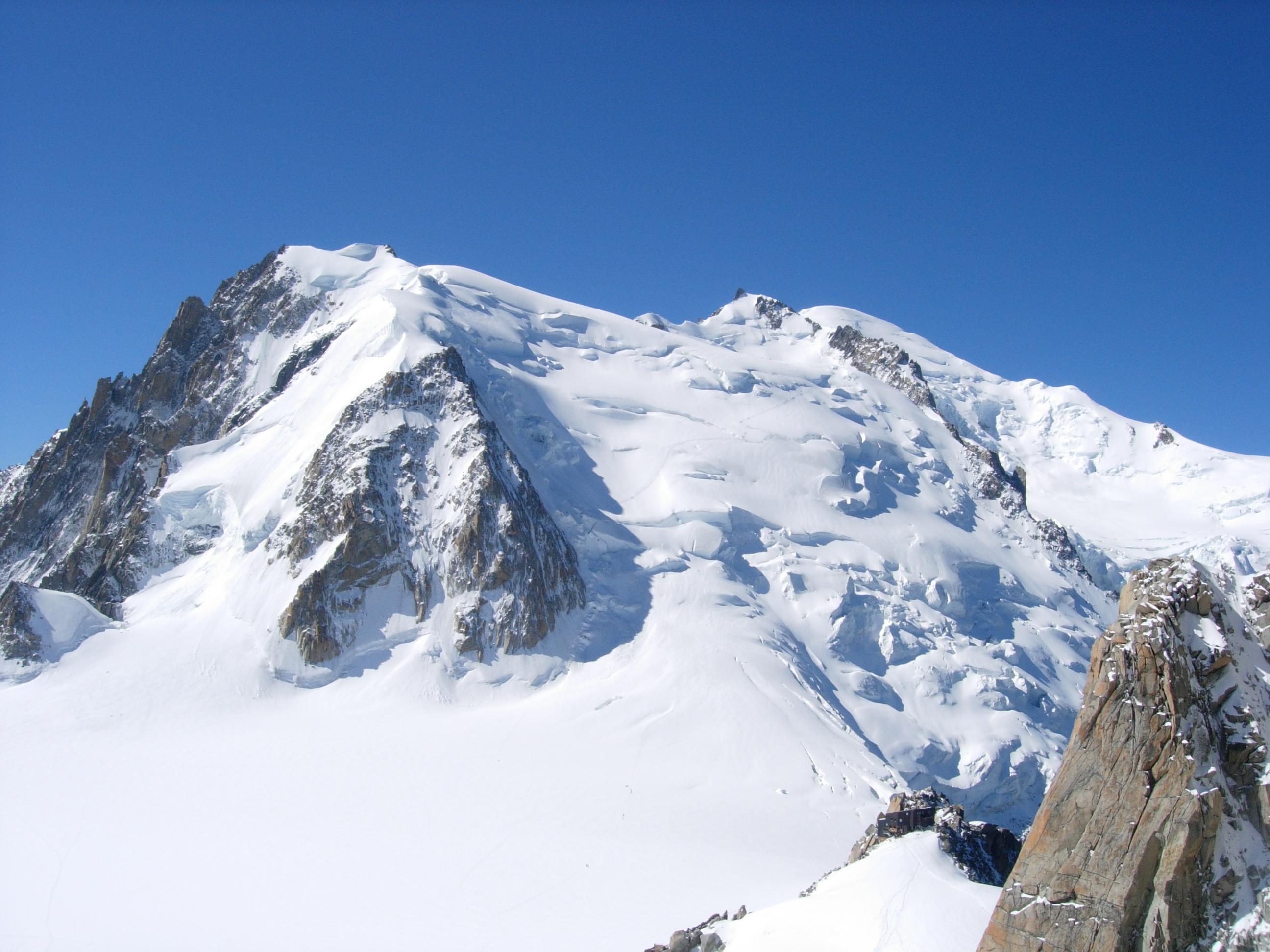 Mont Blanc and Aiguille du Tacul
