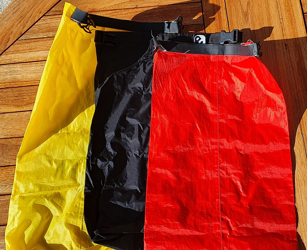 Separate your kit in your rucksack with some handy dry bags.
