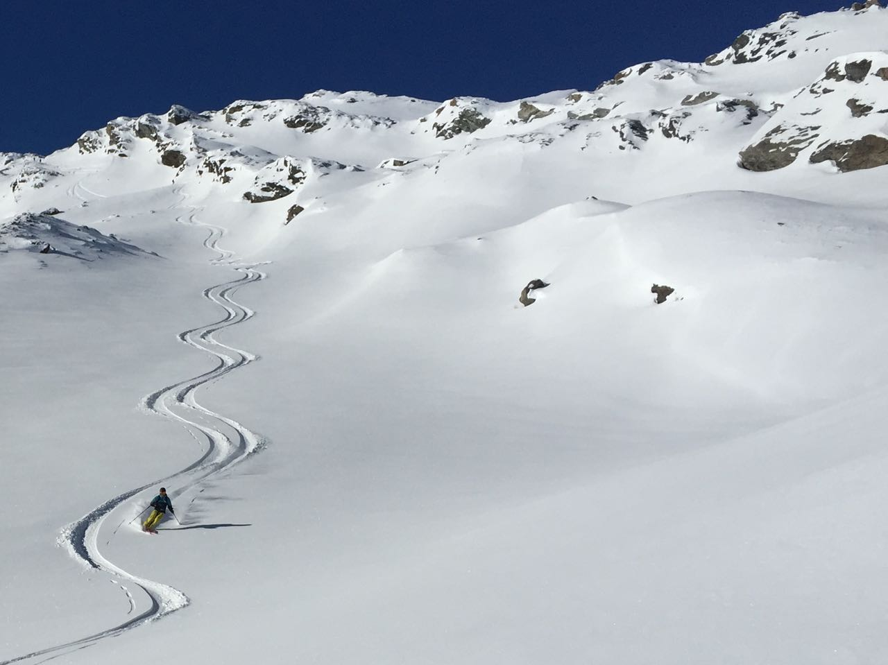 Riding powder in South America