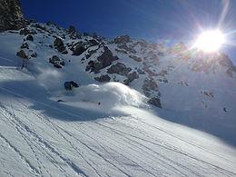 Powder skiing Verbier