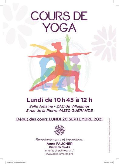 Cours de Hatha Yoga avec Anne Faucher