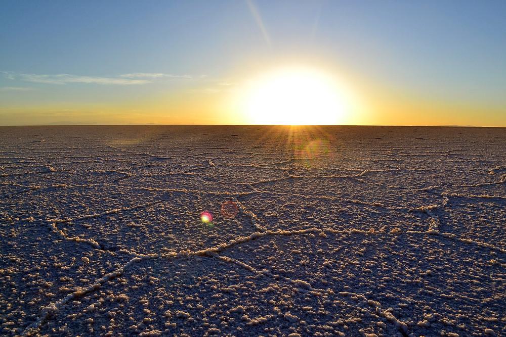 Nascer do sol - Salar de Uyuni
