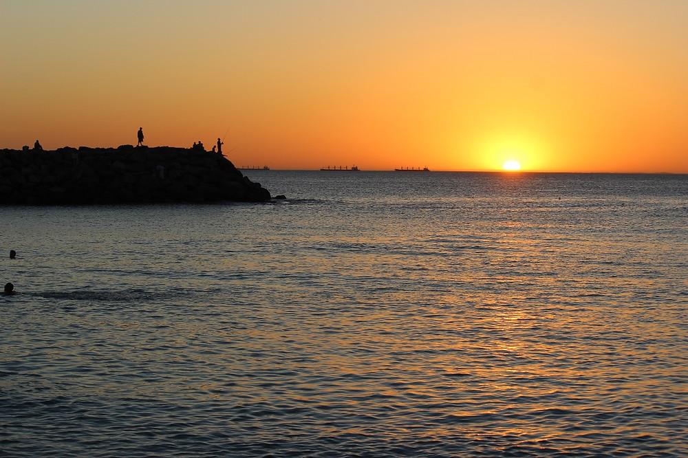 Por do sol em Perth