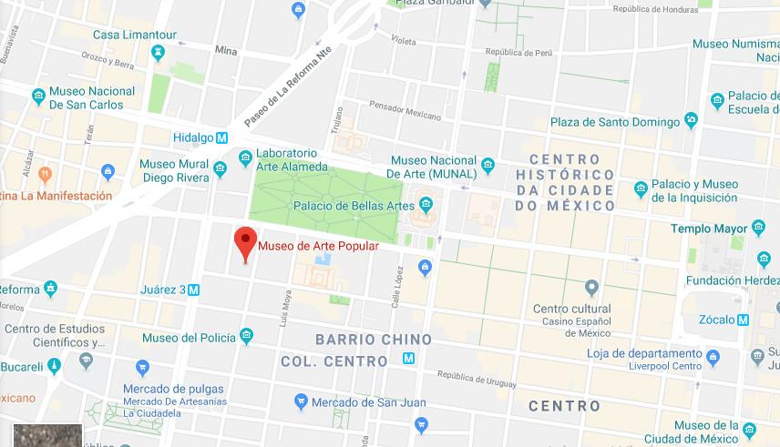 Mapa Cidade do México