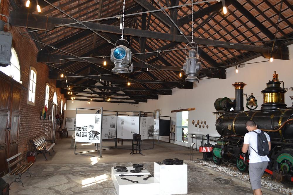 Foto interna do Museu ferroviário