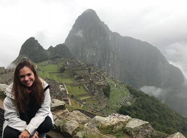 Marina em Machu Picchu