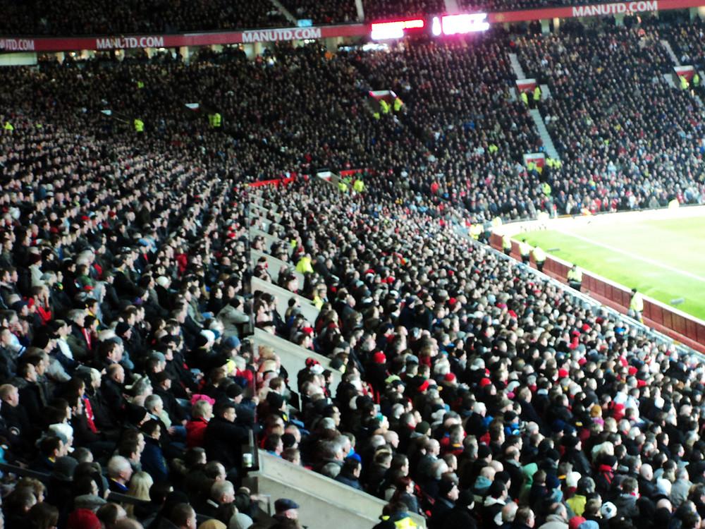 Estádio lotado do Manchester United