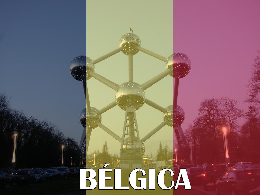 Bruxelas - Bandeira da Bélgica
