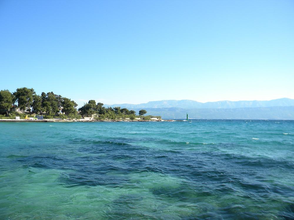 Ilha Hvar - mar (Foto:André Ramalho)