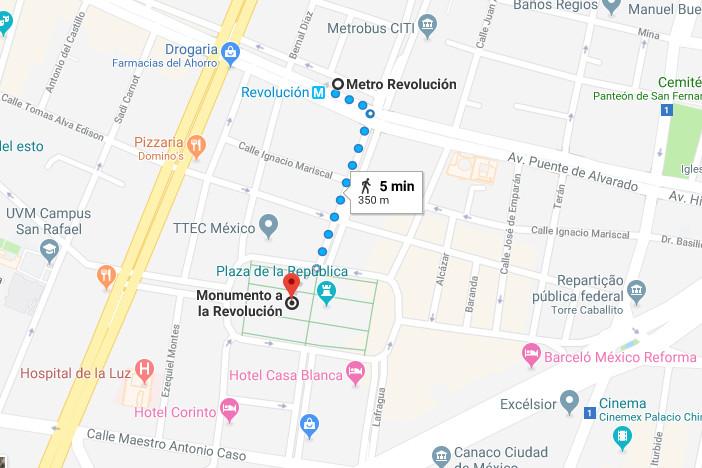 Foto Mapa cidade do méxico