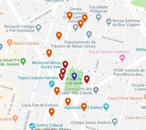 Mapa do Circuito Cultural da Liberdade