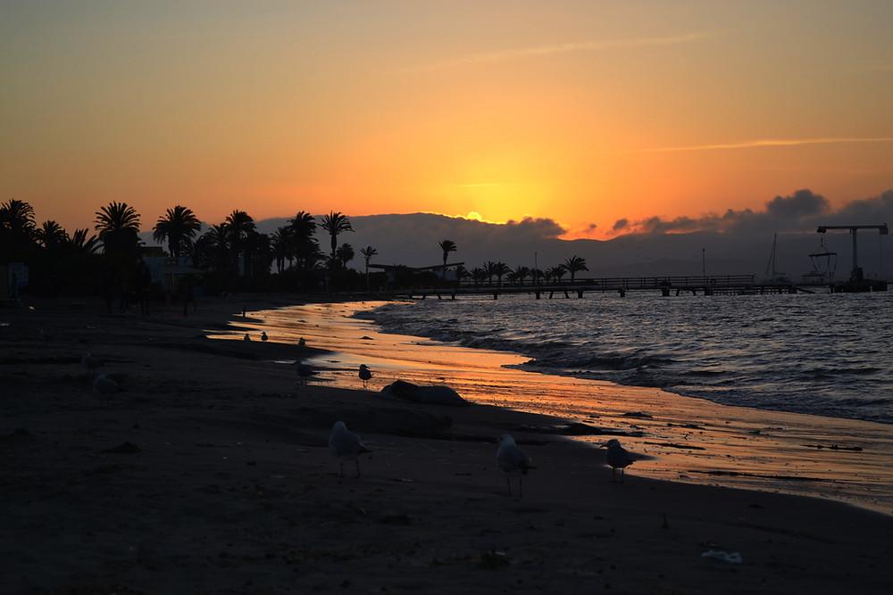 Por do sol em Paracas