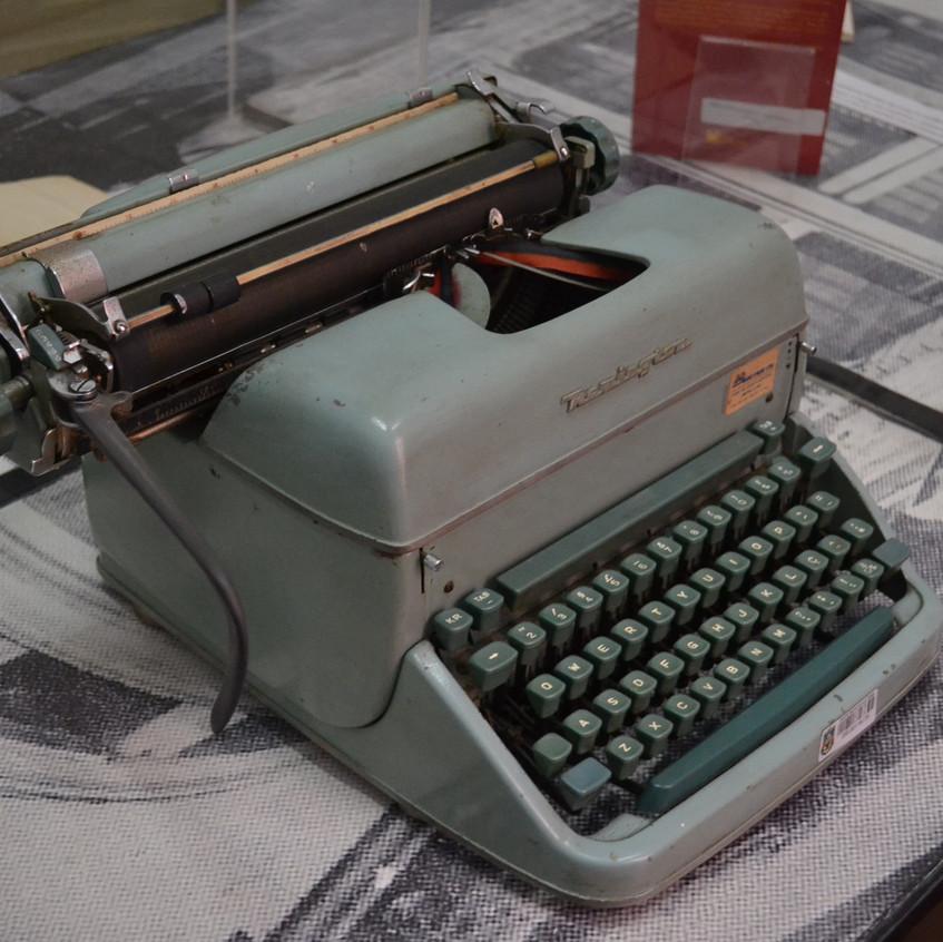 Máquina de escrever utilizada por Mario Quintana.