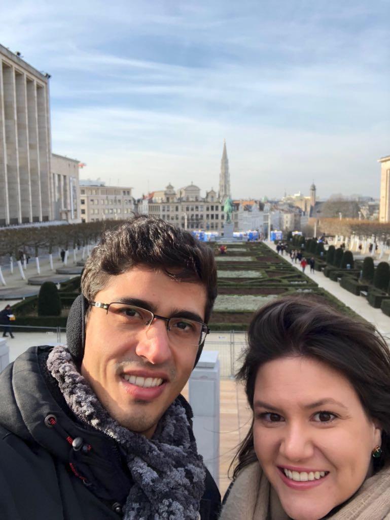 Felipe e Livia em Bruxelas