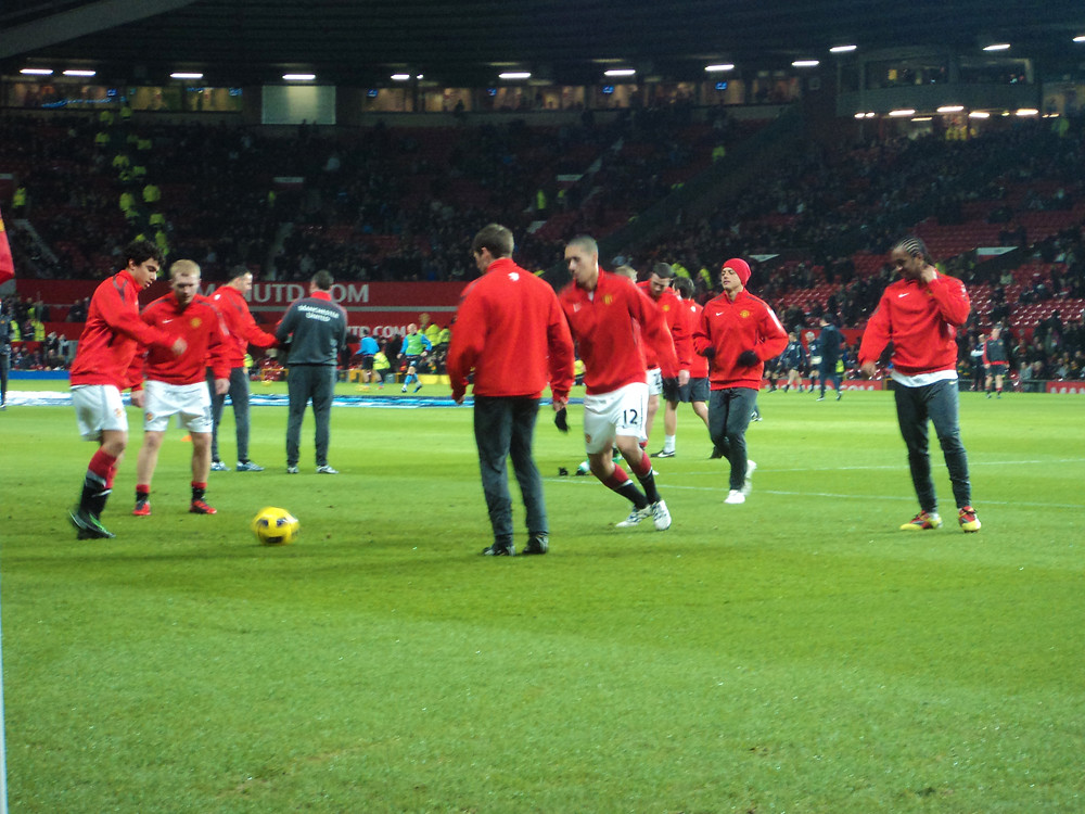 Aquecimento Manchester United