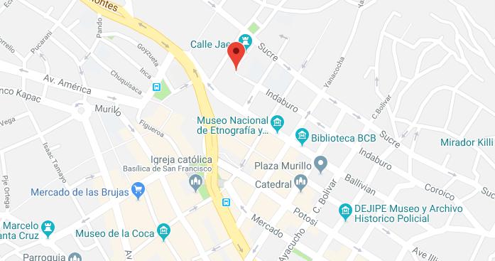 Mapa de La Paz.