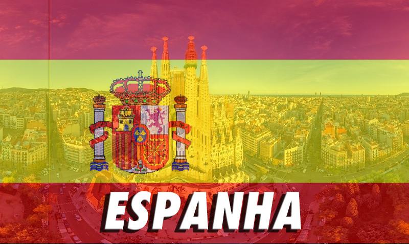 Foto de Barcelona com filtro com a bandeira da Espanha