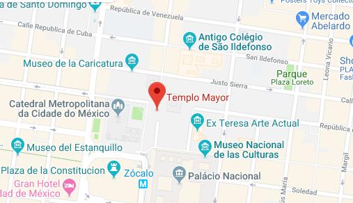 Mapa - Templo Mayor