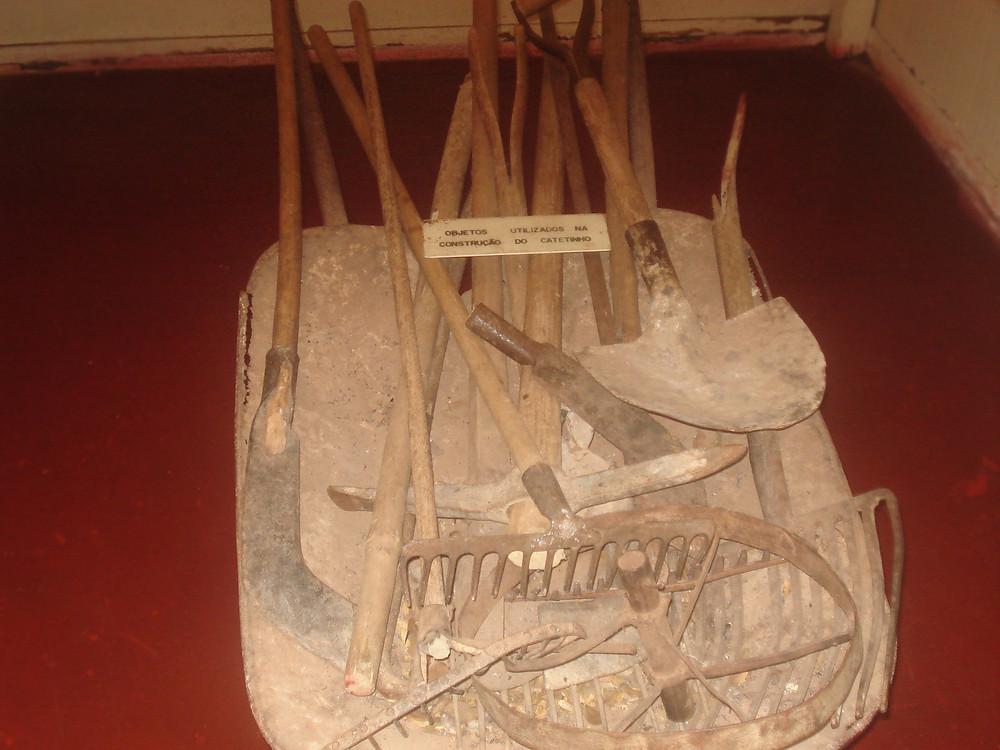 Objetos utilizados na construção do Catetinho