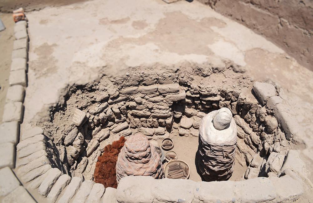 Huaca Pucllana - objetos funerários