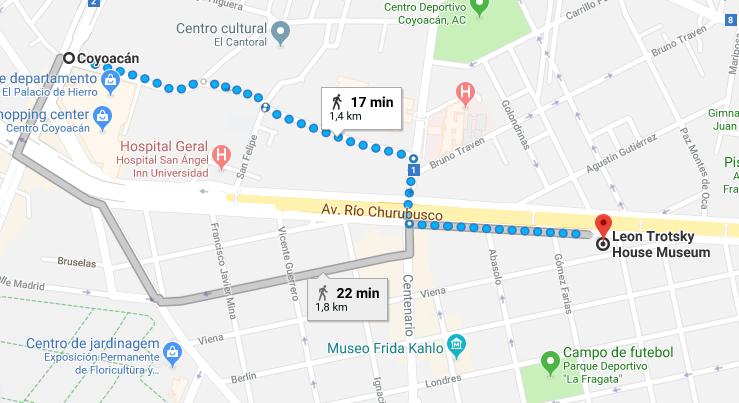 Mapa - Metro para o Museu