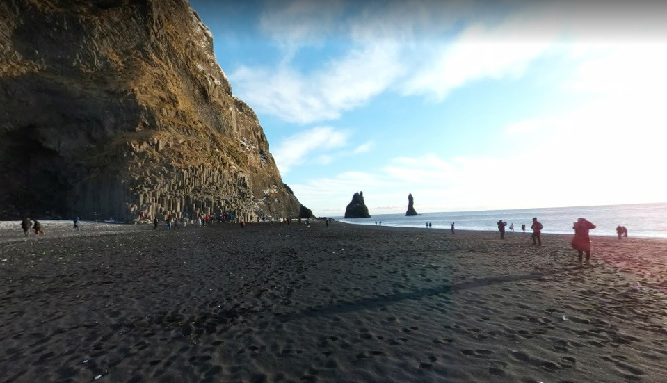 Foto: praia de Vík - Google Street View