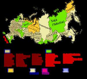 Divisão administrativa da Rússia.
