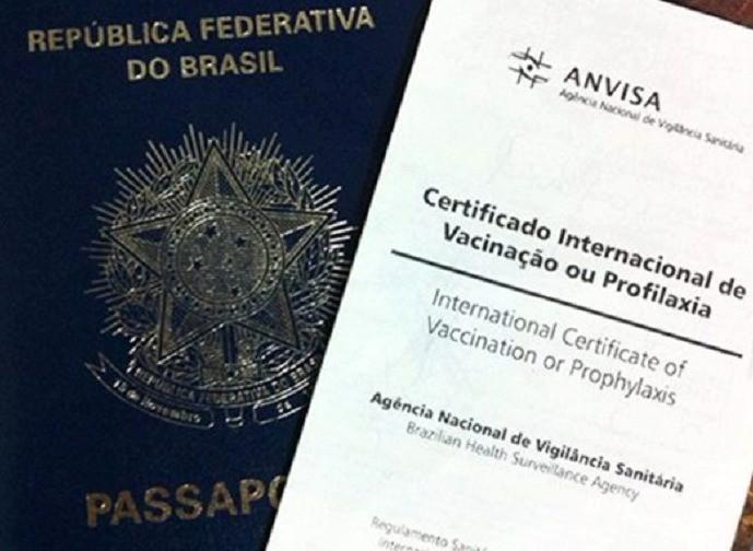 Passaporte e Certificado Internacional de Vacina