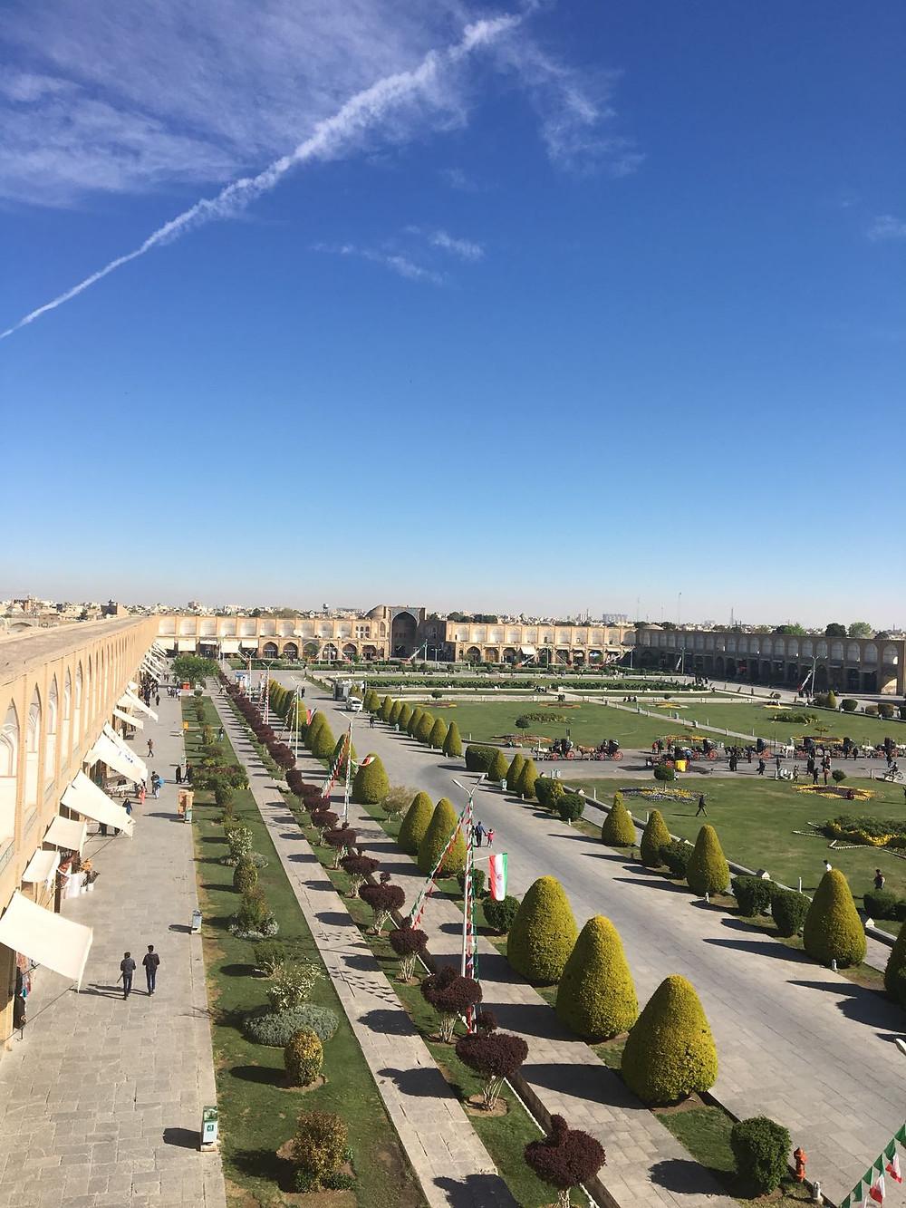Foto da Praça de Isfahan. Foto: Fernanda